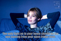 The only light on in your home should be the one coming from your open fridge door.